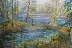 Lysning i skogen Akvarell 40x51cm 4500,-u.r