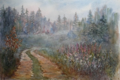 Morgendis Akvarell 38x57cm 5000,-u.r