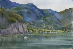 Songesand Akvarell 38x57cm 6000,-u.r