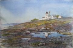 Tungenes Akvarell 38x57cm 6000,-u.r.