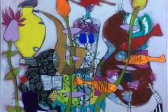 Musical Intentions Akryl på lerret (100x100 cm) kr 12000 ur