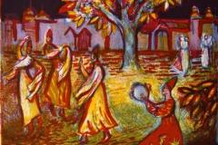 Musikalsk natt Litografi 24,5x21,5 cm 700,-kr u.r.