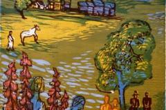 Musikalsk sommer i Rauland Tresnitt 40x30 cm 1300,-kr u.r.