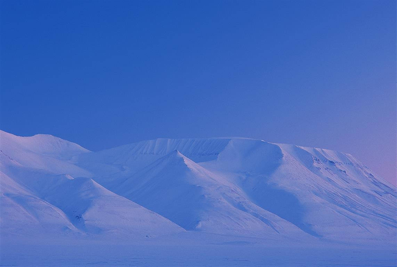 Fjell, Svalbard Digitalprint på Hahnemuele Barryta (55x85 cm) kr 4200 ur