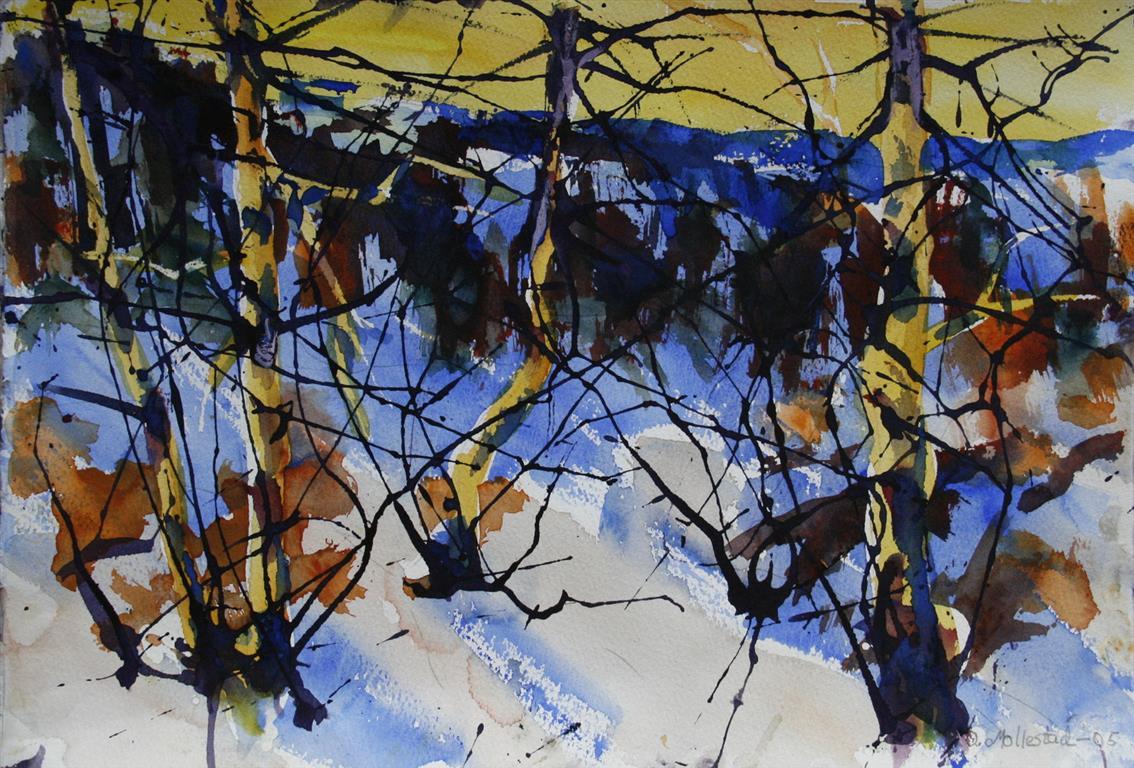 Vinter 4 Akvarell 38x56 cm 4000 ur