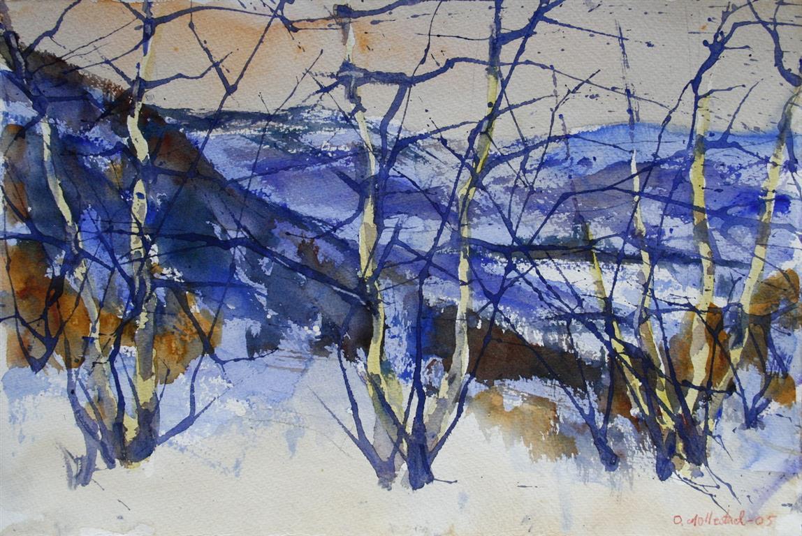 Vinter 7 Akvarell 38x56 cm 4000 ur