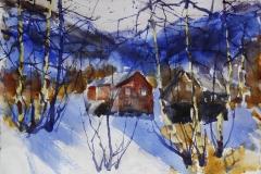 Vinter 2 Akvarell 38x56 cm 4000 ur