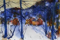 Vinter 3 Akvarell 38x56 cm 4000 ur