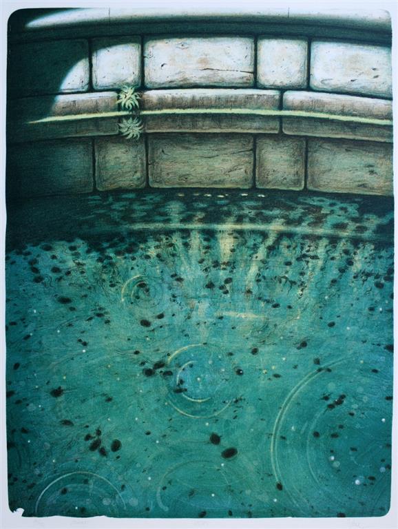 Kilden Litografi (65x49 cm) kr 3500 ur