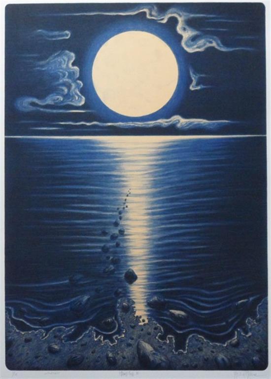Månedans Litografi (70x50 cm) kr 4000 ur