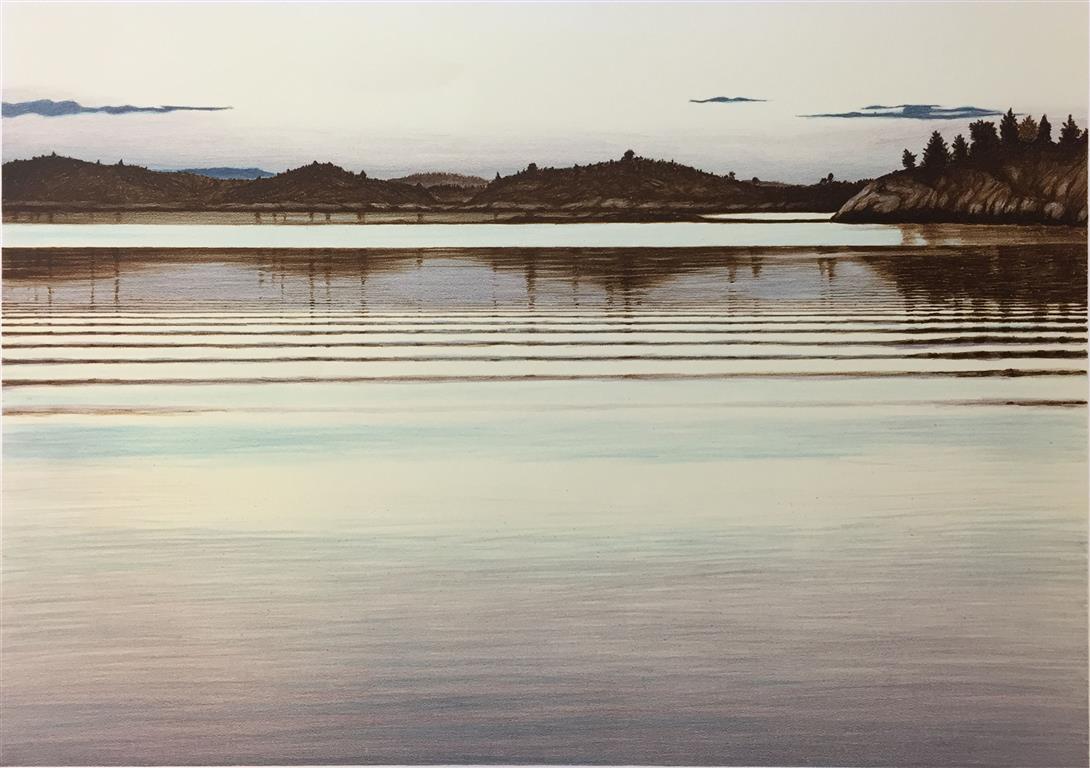 Morgengry Litografi (49x70 cm) kr 4000 ur
