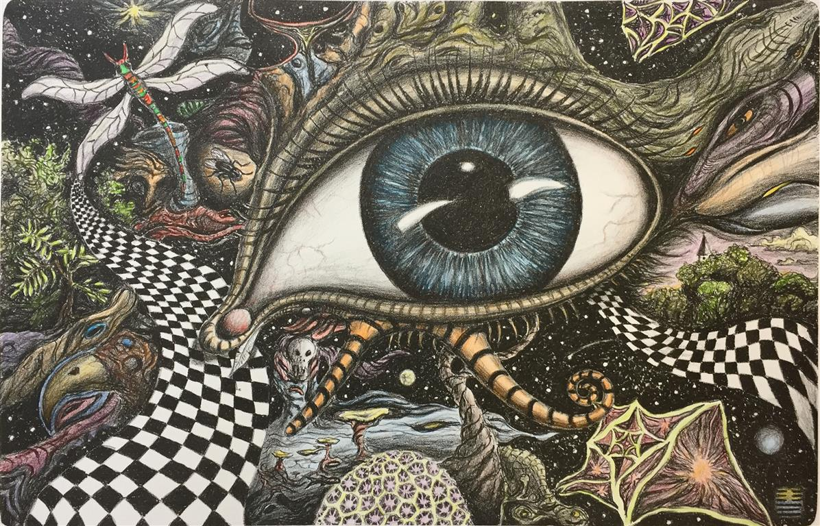 T´ ai Litografi håndkolorert (31,5x48,5 cm) kr 4500 ur