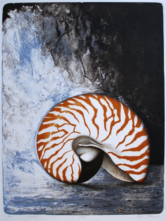 UMANE Litografi (65x49 cm) kr 4000 ur