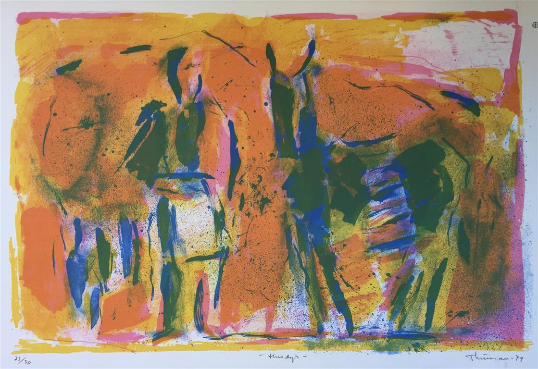 Husdyr  Litografi (38x56 cm) kr 2400 ur
