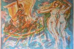 Odyssevs passer sirenene Litografi (52x69 cm) kr 2500 ur