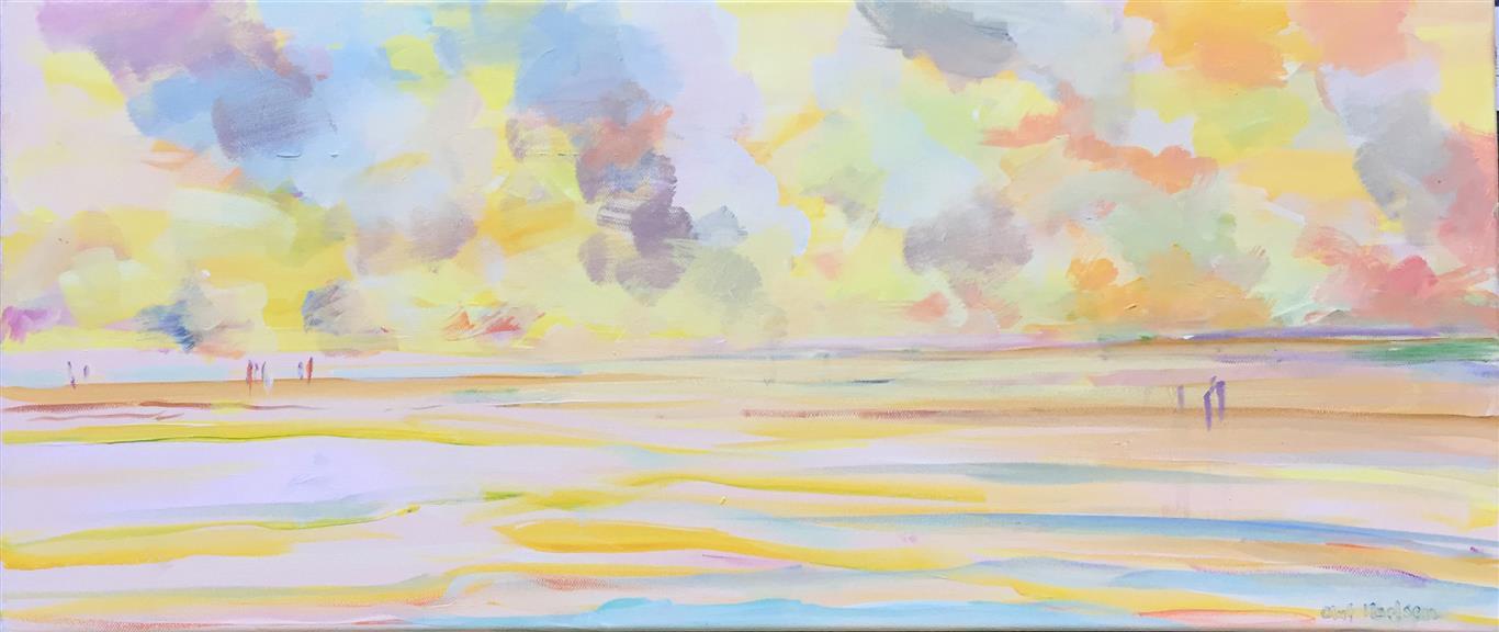 Den himmelske strand Akrylmaleri (30x70 cm) kr 5000 ur