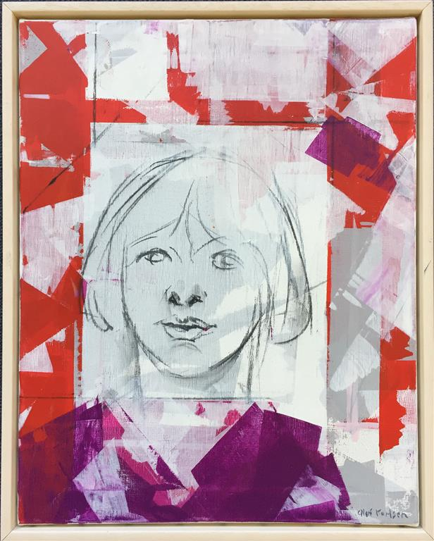 Portrett Akrylmaleri (50x40 cm) kr 4000 mr