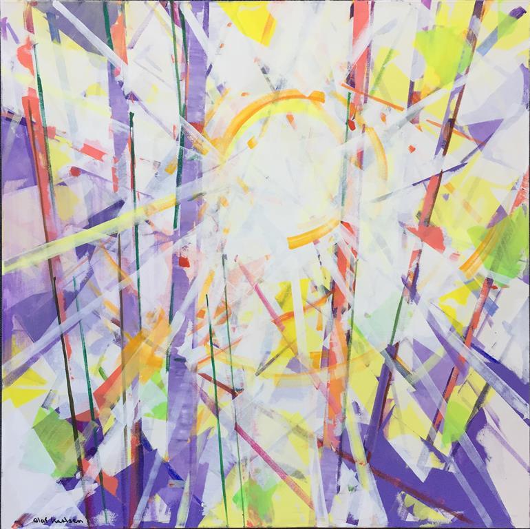 Vintersol Akrylmaleri (80x80 cm) kr 12000 ur