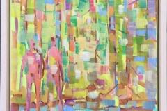 I skogen I Akrylmaleri (30x24 cm) kr 3000 mr