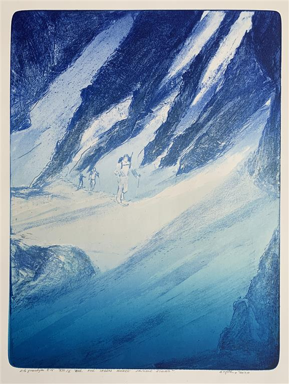 Der kor tiden andre skispor finns Litografi (64,5x49 cm) kr 7500 ur