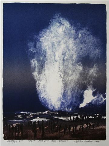 Pust fra ein aen verden Litografi 42x32 cm 2000 ur