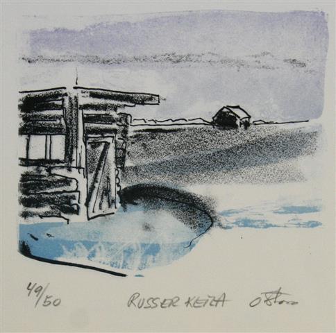 Russer keila Litografi 14x15 cm 800 ur