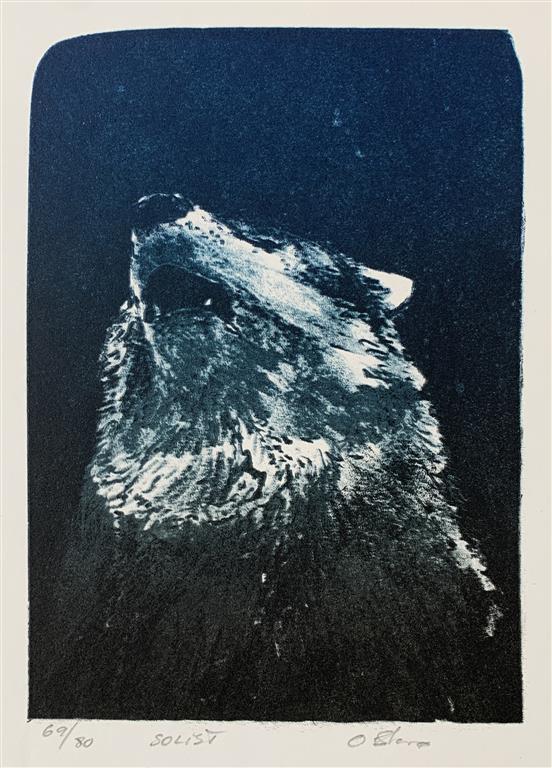 Solist Litografi (24x17 cm) kr 1500 ur