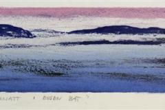 Sommarnatt i eigen baat Litografi 10x54 cm 1600 ur