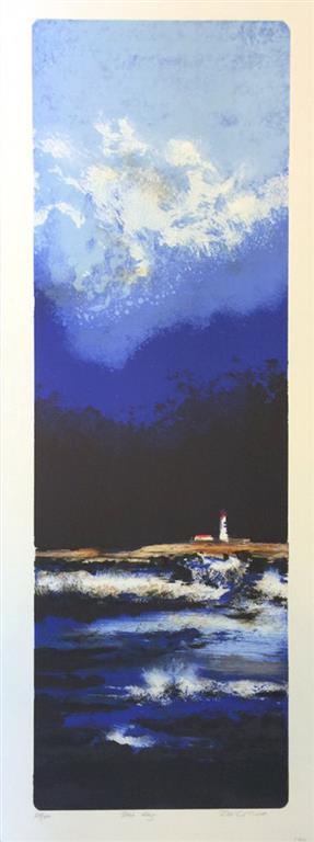 Blå dag Litografi (29x86 cm) kr 3900  ur