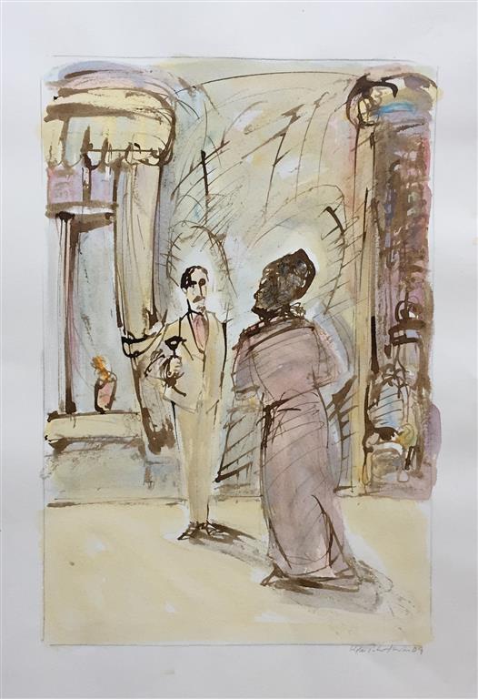 Kielland II Akvarell (46x31 cm) kr 6500 ur