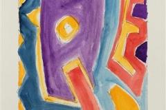 Komposisjon II Akvarell (41x18 cm) kr 3000 ur