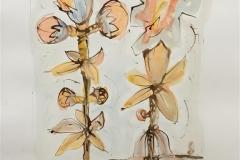 Store blomster II Akvarell (57x40 cm) kr 6000 ur