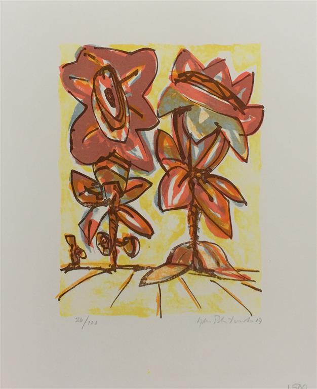 Blomster III Litografi (20x15 cm) kr 1500 ur