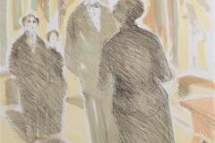 Diskusjon Litografi (71x52 cm) kr 4500 ur