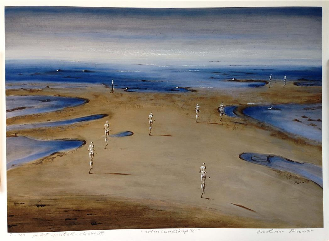 Aftenlandskap II Print, pastell, oljekritt (49x69 cm) kr 3800 ur