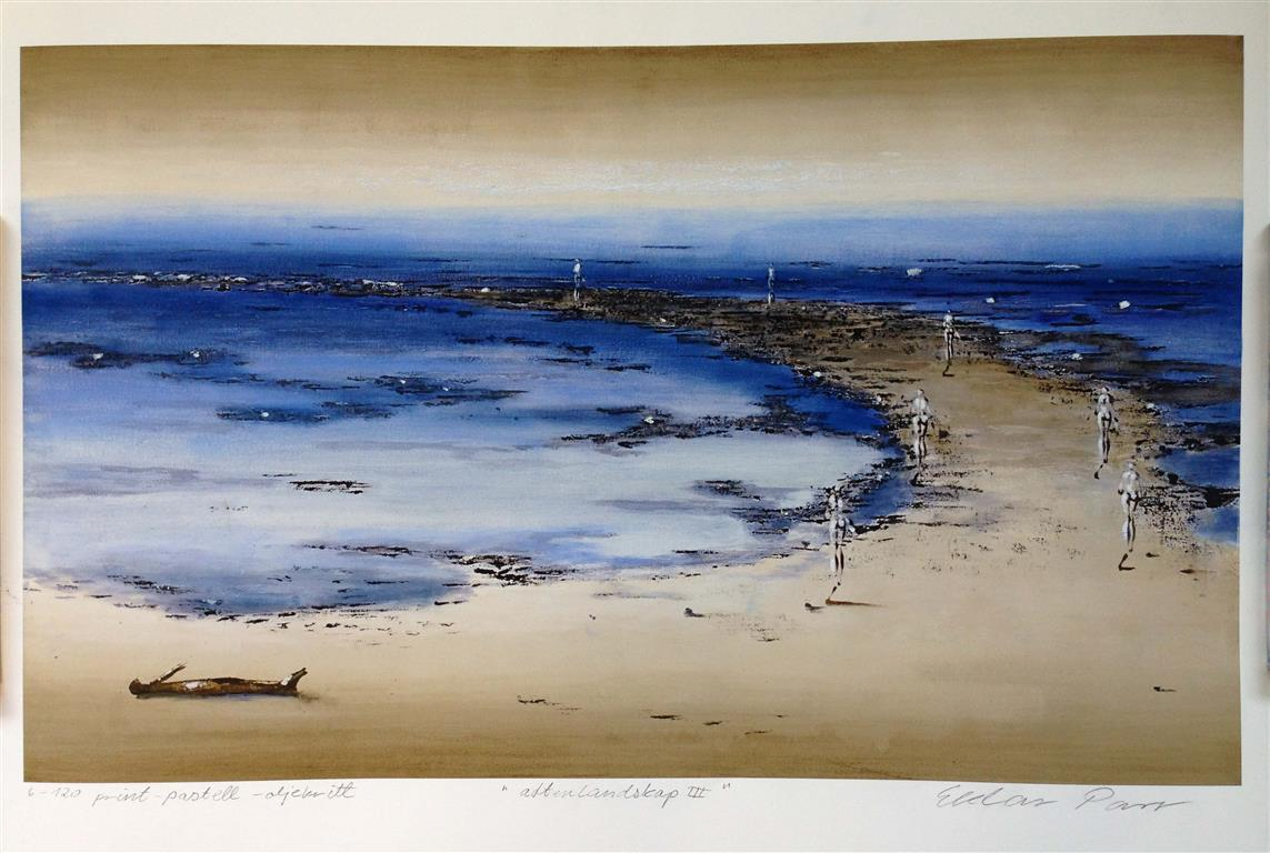 Aftenlandskap III Print, pastell, oljekritt (45x74 cm) kr 3800 ur