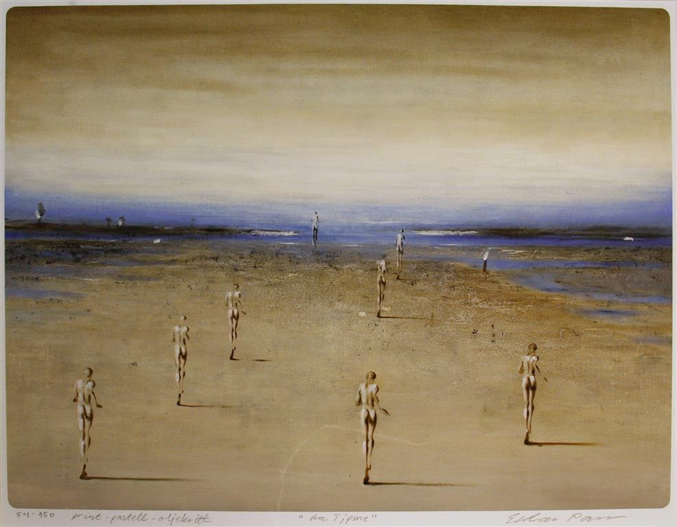 Fra Fjøme Print, pastell, oljekritt (49x65 cm) kr 4800 mr