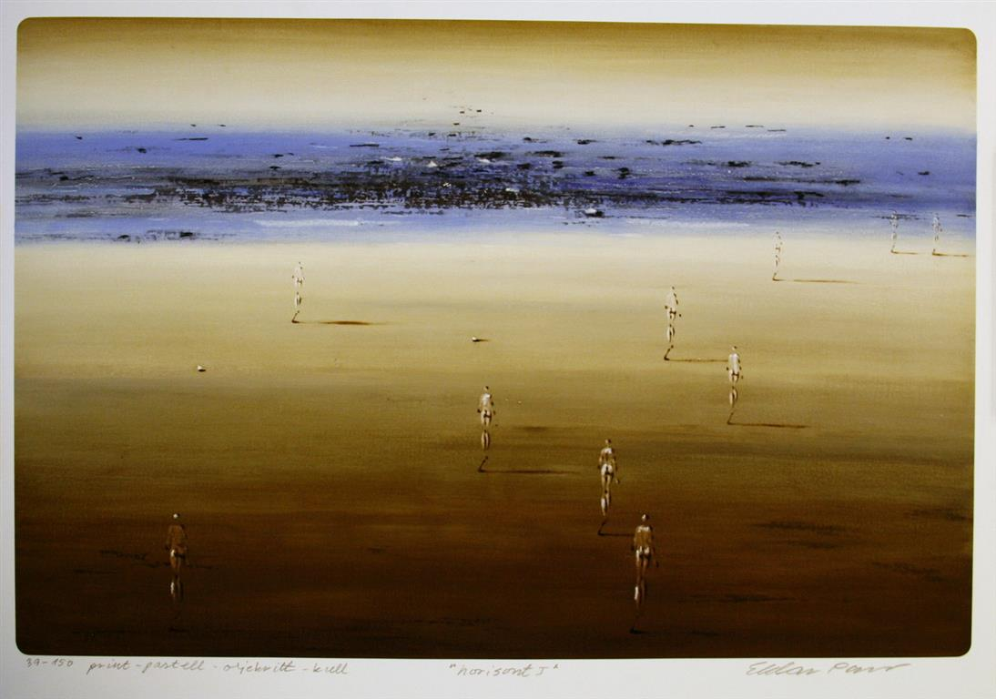 Horisont I Print, pastell, kull (42,5x64,5 cm) kr 3600 ur