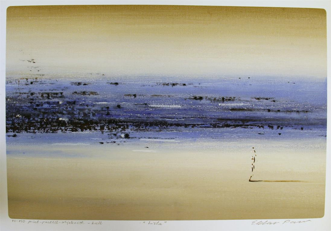 Lista Print, pastell, oljekritt, kull (49,5x74,5 cm) kr 3600 ur