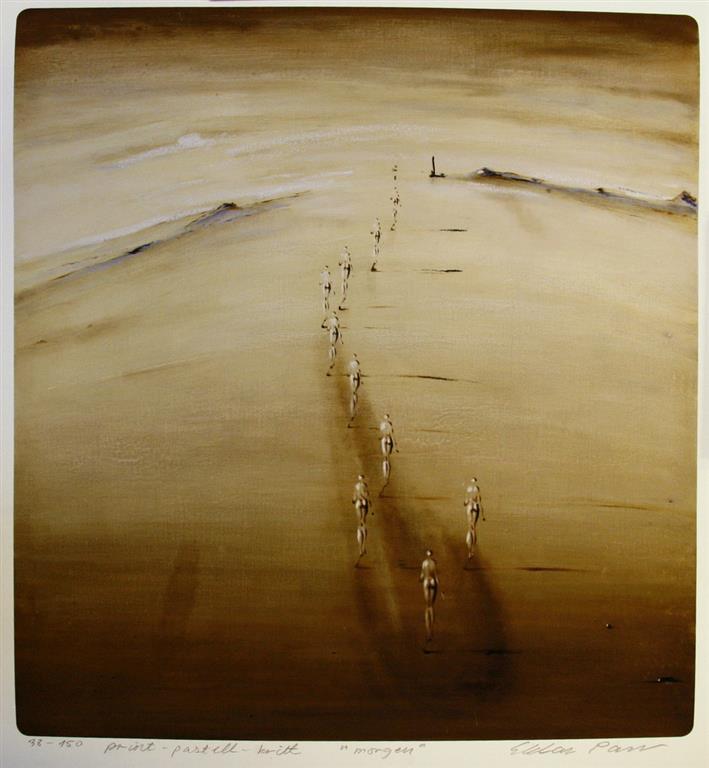 Morgen Print, pastell, kritt (53,5x50 cm) kr 3600 ur