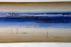 Aftenlandskap I Print, pastell, oljekritt (40x74 cm) kr 3800 ur
