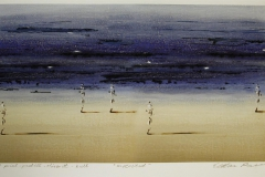 Møtested Print, pastell, oljekritt, kull (36,5x69,5 cm) kr 3600 ur