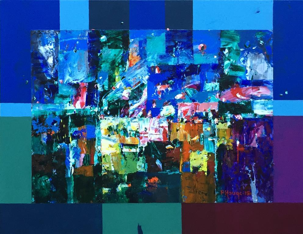 Siste streif av lys Akrylmaleri (41x53 cm) kr 3600