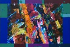 Innover-land Akrylmaleri (40,5x52,5 cm) kr 3600