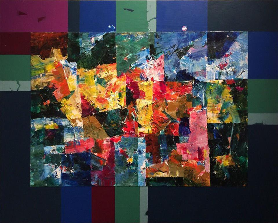 Natten kommer Akrylmaleri (46x58 cm) kr 4500