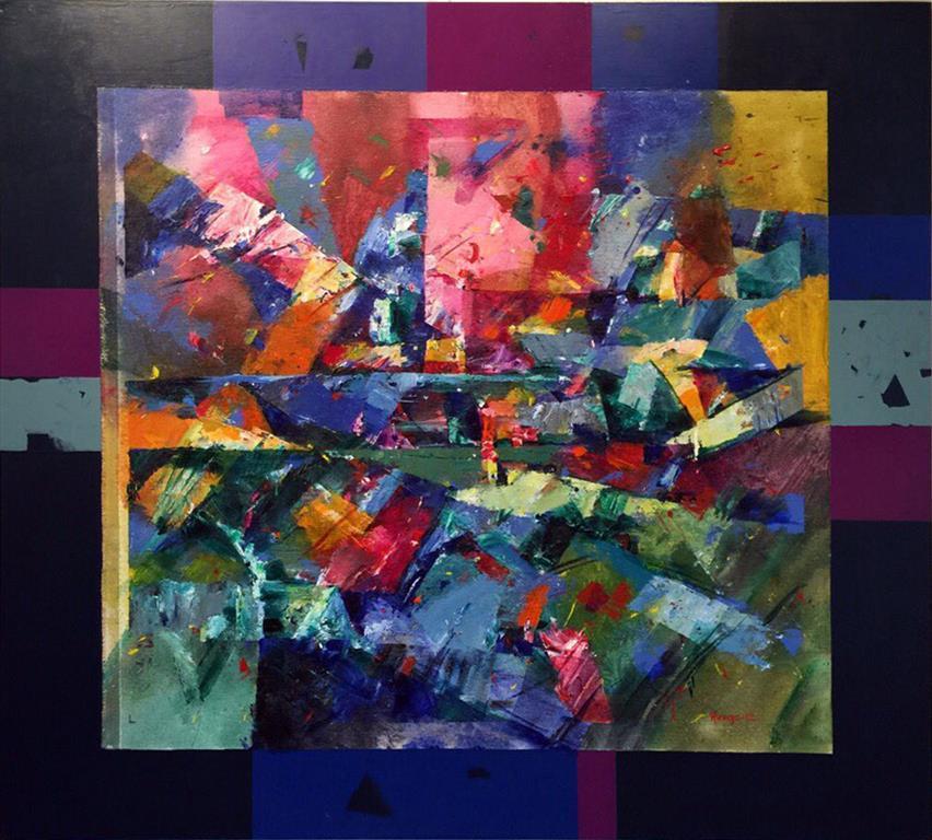 Vandring Akrylmaleri (81x91 cm) kr 9000