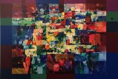 Om kvelden Akrylmaleri (58x70 cm) kr 6000