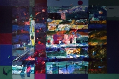 Rod mane Akrylmaleri (41x53 cm) kr 4400