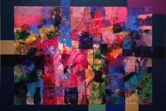 Rosa morgen Akrylmaleri (54x71 cm) kr 6500