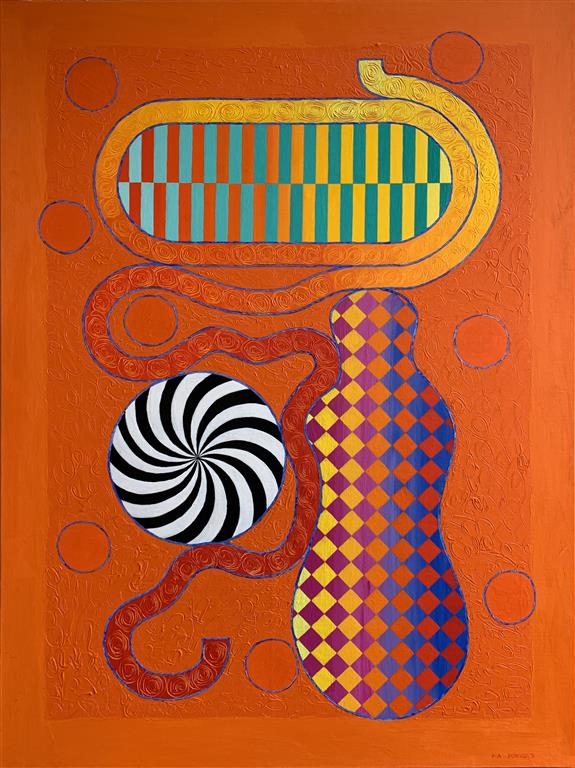 A Momentary Eternity II Akrylmaleri (130x100 cm) kr 57000 ur